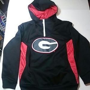 Georgia Bulldogs Hoodie Black red sz M